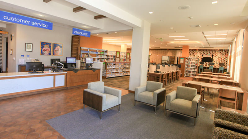 Willowbrook Library Customer Service Area